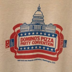 Hanes Beefy T Shirts - Vintage 1985 Dominos Pizza Beefy T-shirt. Size L